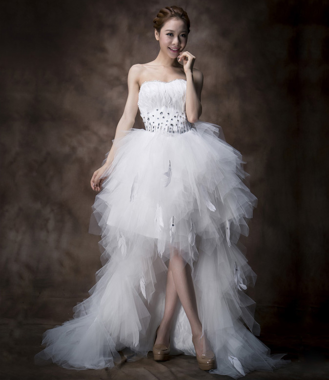 white feather wedding dress white burlesque style wedding