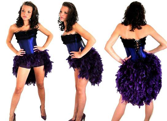 GORGEOUS range of Feather Bustle Dresses..