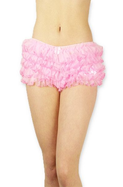 Pink Frilly Frothy Knickers Big Frilly Knickers Ruffle