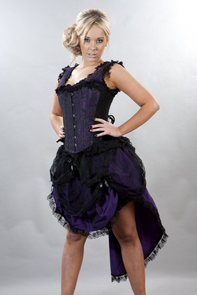 1632c199ba Purple Burlesque Bustle Suzanna Skirt